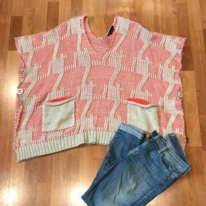 BCBG Maxazria - poncho sweater